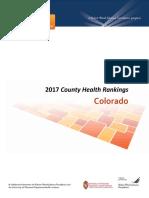 Colorado 2017 County Health Rankings