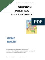 Division Politica de Colombia
