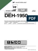 Pioneer Deh 1950 Crt3821 Sm.