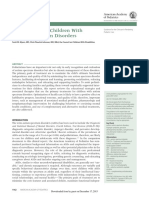 Management of Children With Autism Spectrum Disorders (Pediatrics, 2011)