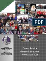 Cuenta Pública de Gestión 2016 Informe