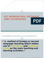 Elt Approaches, Methods and Techniques