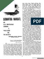 Nombres de Acidentes Geograficos en Nahuatl
