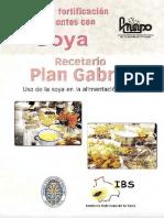 Recetario de Soya-Plan Gabriel