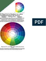 El Final de La Lámina Es de Color Combinaciones de Trucos