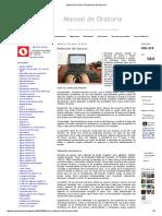 Manual de Oratoria_ Redacción Del Discurso