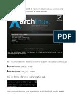 Instalar Archlinux Desde Cero