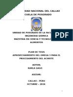 Proyecto de Tesis (Aprovechamiento Del Omega 3 Para El Procesamiento Del Achiote) Karla Gago
