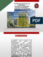 Rol Del Ingniero Civil en La Contribucion Del Desarrollo Del Pais
