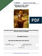 Informe Estudio de Suelos Fiscalia Pataz