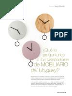 ¿Qué le preguntarías a los diseñadores de mobiliario del Uruguay?