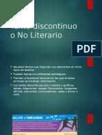 Texto Discontinuo o No Literatio
