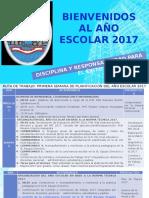 BIENVENIDOS AL AÑO ESCOLAR 2017.pptx