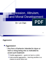 PSY6017 L8 Aggression Altruism and Moral Development