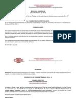 Acuerdo 004 de 2016