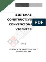 Sistema Constructivos No Convencionales - TCNC ó SCNC Vigentes (Perú)