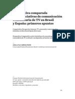 Perspectiva comparada entre iniciativas de comunicación comunitaria de TV en Brasil y España