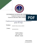 Clasificación de Los Microorganismos de Acuerdo Al Grupo de Riesgo