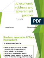 Socio Economic Problems & Government Policies!!