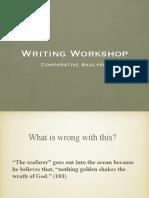 comparative analysis workshop-- seniors