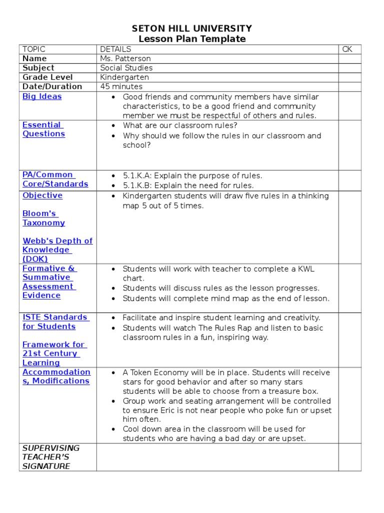 Social studies lesson plan 1 classroom lesson plan saigontimesfo