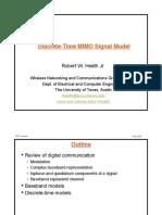 Discrete Time MIMO Signal Model