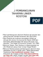 Teori Pembangunan Rostow