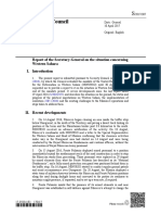 Informe Secretario General de la Onu Sobre Sahara Occidental (Abril 2017)