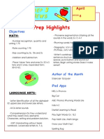 prep highlights newsletter 8- april