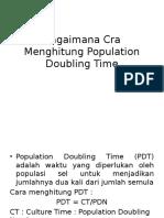 Bagaimana Cra Menghitung Population Doubling Time