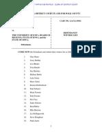 Defendant Witness List