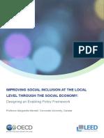Improving Social Inclusion Capacity