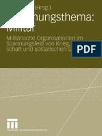 Maja Apelt - Forschungsthema Militär