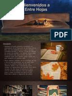 Texto Promocional – Entre Hojas