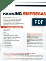 RSE- Reportaje Ranking Nacional de RSE 2009 PROhumana