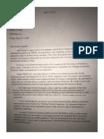 Polston/Foglesong Letter