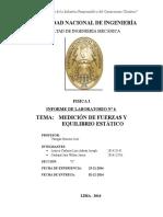 Informe 6 Medición de Fuerzas y Equilibrio Estático