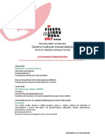 Fiesta del Libro y la Rosa 2017 - Programa de actividades completo