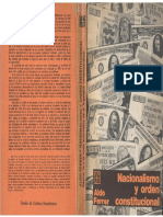 Ferrer, Aldo - Nacionalismo y Orden Constitucional, Ed. F.C.E., 1983