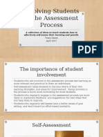 goal 3 involving students in the assessment process