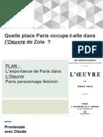 Quelle Place Paris Occupe-t-elle Dans l'Oeuvre de Zola