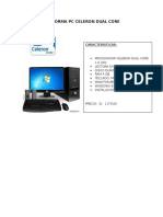 Proforma Pc Celeron Dual Core