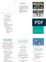 communication brochure