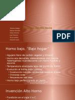 Equipo No. 1_Minerales Alto Horno Descripción, Carga, Reacciones, Productos..Pptx