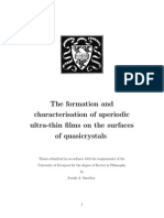 The formation and characterisation of aperiodic ultra-thin films on the surfaces of quasicrystals
