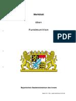 Merkblatt über Fundmunition