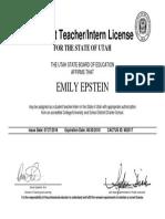 student teaching license - emily epstein  1