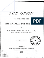 Orion or researches into Antiquity of the Vedas  (Balagangadhara Tilak, 1893)