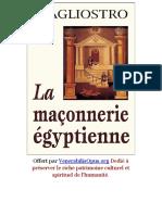 128 Cagliostro La Maconerie Egyptienne