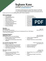 meghannkane resume 2017weebly